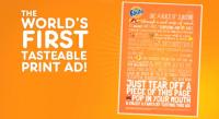 芬達在阿拉伯聯合大公國推出「可食廣告」推廣新產品