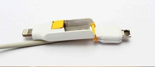 將 micro USB 與 Lightning 二合為一的 Orobis Transform