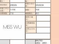 小聊吳季剛MISS WU商標申請案