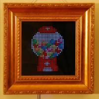 LED互動藝術裝置PIXEL,可在32 X 32解析度自由創作