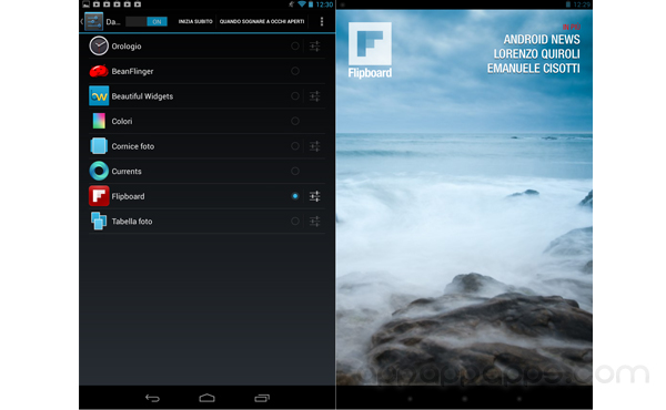 "Android 4.2新功能""Daydream""「白日夢」有甚麼用? 試試 Flipboard App更新支援"
