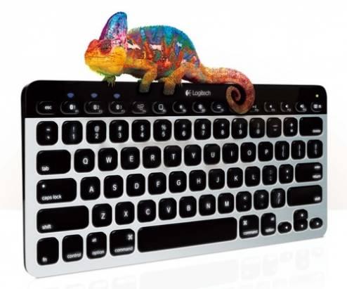 羅技 Easy-Switch 藍牙裝置專用鍵盤 猶如變色龍般任意穿梭於電腦、平板或智慧型手機