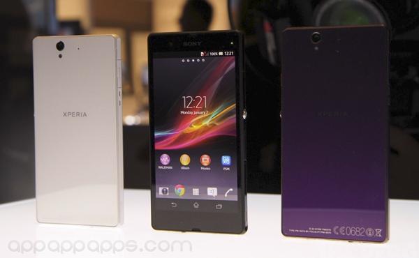 CES 2013:Sony 發表 2013 旗艦機 Xperia Z/ZL,5吋1080P螢幕,四核處理器,1300萬像鏡頭及防水機身