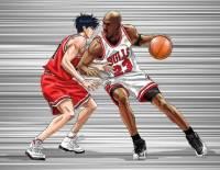 流川楓對上 Michael Jordan 插畫家實現夢幻對決