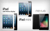 iPad mini完全比較: iPad 3 iPad 4 Nexus 7 Samsung Galaxy Tab 2
