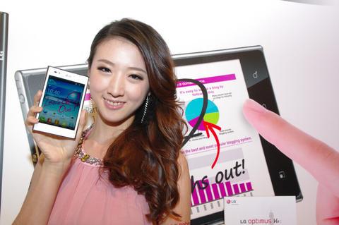 4:3 的 5 吋智慧終端 LG Optimus Vu 在台上市,單機 20900 台幣