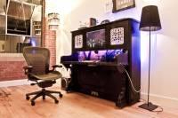直立式鋼琴DIY變身為電腦桌