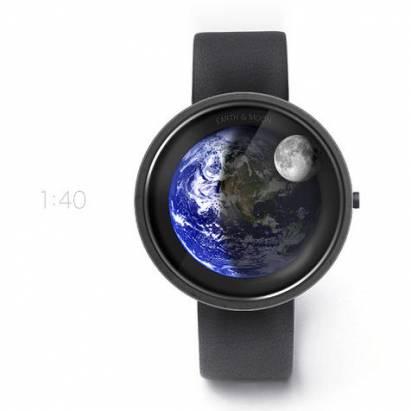 超美型地球手錶 Earth and Moon