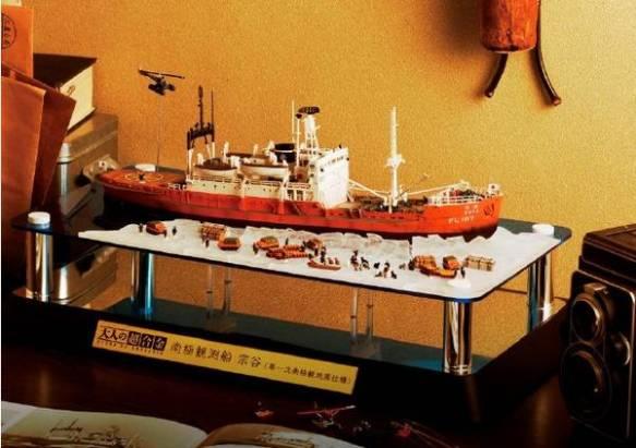 萬代將販售1/250大小的南極觀測船「宗谷號」超合金模型,要價約1萬8千4