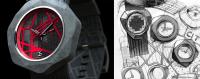 超有份量的Dzmitry Sama混凝土手錶