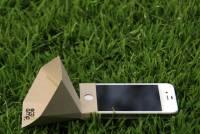 聽 iPhone 唱環保,紙糊的 eco-amp 擴音喇叭