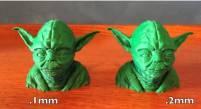 用 3D 列印出來的尤達大師頭像頗精美的嘛