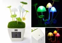營造氣氛不用插電,太陽能蘑菇燈