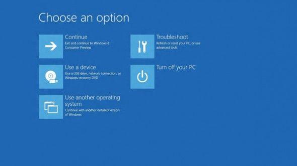 F8 再見,Windows 8開機選項大革新