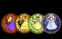來感受公主的福澤吧!!迪士尼公主系列鑲嵌玻璃風彩繪