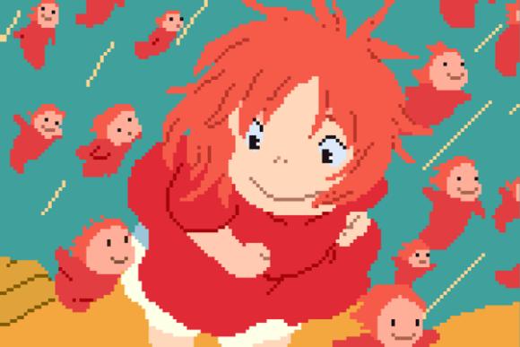 八位元化的宮崎駿,變身電玩風格也很迷人