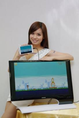 新一代智慧手機好搭檔,三星顯示器 SB750 率先搭載 MHL 輸入