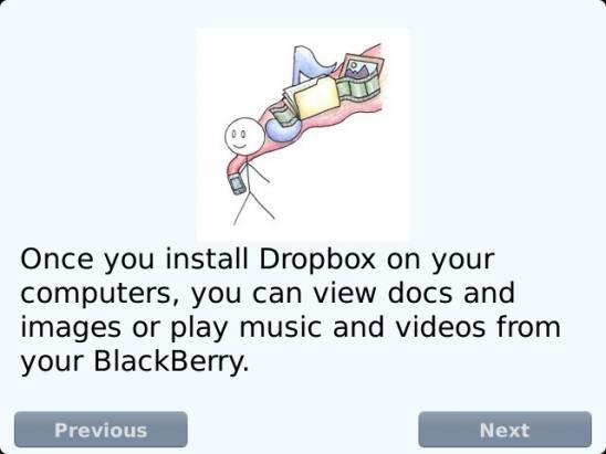 黑莓輕盈帶著走,Dropbox 輕鬆上雲端