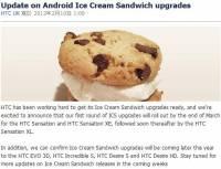 HTC 臉書公佈 ICS 升級名單,第一波升級為三月底