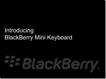 黑莓即將推出 PlayBook 專用藍牙鍵盤