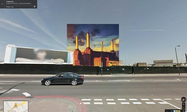 從Google街景來看經典專輯封面