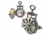 具蒸汽時代風格的渦輪太陽能懷錶