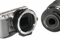 可控制 EF 鏡頭光圈的 EF to NEX 轉接環,不過沒獲得原廠授權