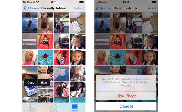 iOS 8 終於讓你隱藏相片, 不過 Apple 忘了最重要的部分…