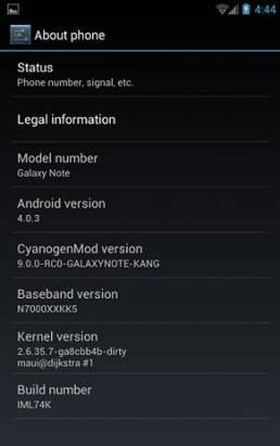 Galaxy Note 有 CyanogenMod 9 版的 ROM 了(Android 4.0)