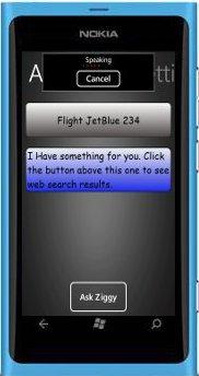 iPhone 有 Siri , Windows Phone 有 Ziggy