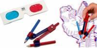 「3D Doodle Kit」手繪玩具組,用紙跟筆打造3D視覺效果