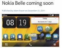 Nokia Belle 更新將於2012年初推出,跟 Symbian 說再見