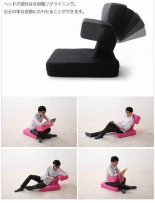 日本創意電玩椅,打破電玩硬派刻板印象