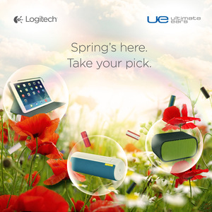 UE BOOM、UE MINI BOOM 及羅技折疊保護組 for iPad Air 繽紛一整個美好春季