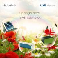UE BOOM UE MINI BOOM 及羅技折疊保護組 for iPad Air 繽紛一整個美好春季