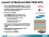 ARM 2013 年 GPU 架構 Mali T-658 正式發表,最高可達 8 GPU 核心