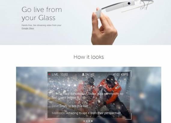 Livestream 推出 Google Glass 版直播軟體