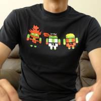 Android與快打旋風合體的T恤