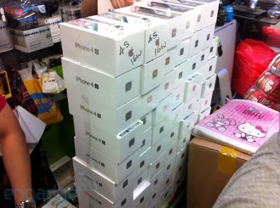 iPhone 4S 水貨陸續抵達香港,港幣 10,500 元