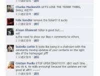 【香港】Facebook 曇花一現的 Ticker 功能,非常惹人厭
