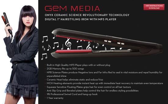 這是那一招?搭載MP3功能的平板燙髮機...