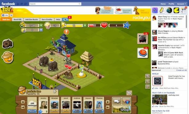 回應 Google+ 遊戲功能,Facebook 推 Game Ticker、加寬遊戲畫面
