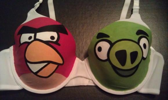 【香港】手繪「Angry Birds」女性內衣,兩星期內出貨