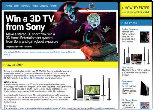 3D八卦:SONY的3D影片競賽活動優勝者受到冷漠待遇