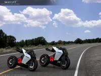 未來派Shavit電動超級摩托車 騎乘姿勢可變喔!