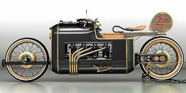 復古的浪漫~蒸汽機摩托車Steampunk誕生