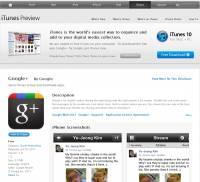 Google+ app已經出現在iTunes Preview嚕~