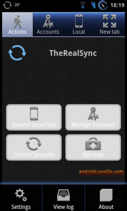 TheRealSync for Dropbox & FTP - 定期上傳備份檔案