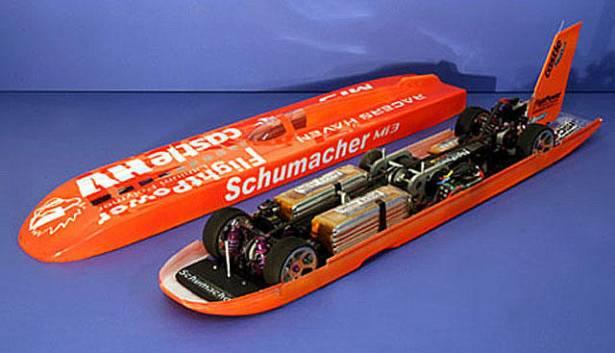 世界最速電動遙控車 Schumacher Mi3:衝出 260 km/h驚人記錄!