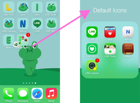 [新App推介]將你的電話變「LINE電話」: LINE新App讓桌布, Apps圖示全變LINE主題 [影片]
